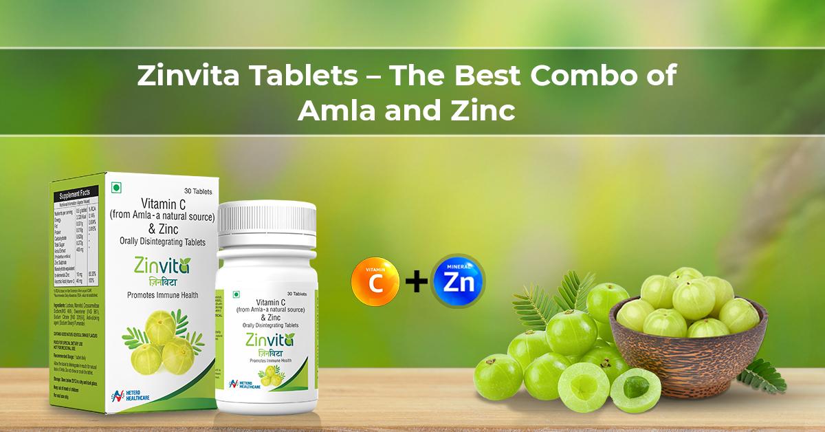 Zinvita Tablets: Power of Natural Vitamin C, Amla, and Zinc